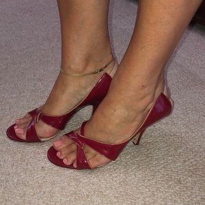 """marc jacobs 7.5 red 2"""" heel"""